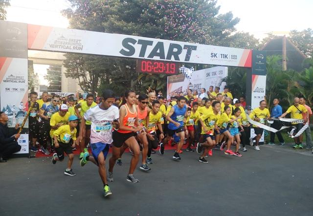 Lomba lari Great Ambarrukmo Vertical Run 2019, Berlangsung Sukses!