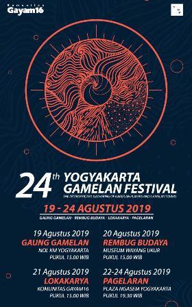 24rd Yogyakarta Gamelan Festival 19-24 Agustus 2019
