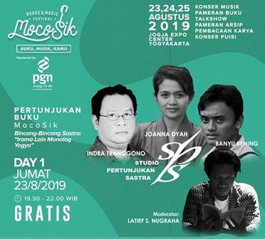 Studio Pertunjukan Sastra Hadirkan Monolog Di MocoSik Book-Music Festival Yogyakarta