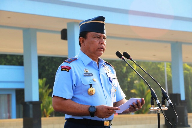 WaGub AAU Marsekal Pertama TNI Fachri Adamy Pimpin Upacara Peringatan HaOrNas 2019
