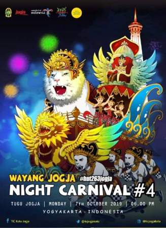 Wayang Jogja Night Carnival, Tampilkan 14 Karakter Wayang Kapi-Kapi, Senin Sore, 7 Oktober 2019.