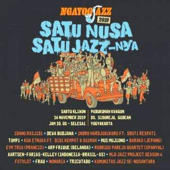 Ngayogjazz Tribute To Djaduk Ferianto, Di Dusun Kwagon, Godean-Sleman, Yogyakarta, Sabtu, 16 November 2019