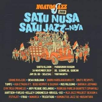 Tujuh Panggung Ngayogjazz 2019 Di Dusun Kwagon Godean-Sleman Yogyakarta, Siap Hibur Publik Sehari-Semalam