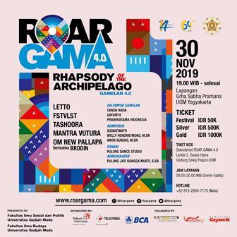 Konser Musik Rhapsody of The Archipelago, Gamelan 4.0 (ROAR GAMA 4.0), 29-30 November 2019 di UGM