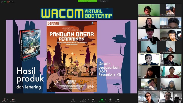 pt. Datascrip Gelar Wacom Virtual Bootcamp 2020, Wadah Kreativitas Generasi Muda Indonesia