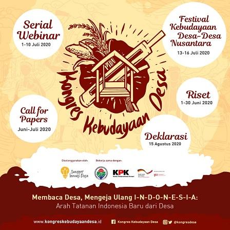 Konggres Kebudayaan Desa Secara Online Dari Kampung Mataraman Yogyakarta, Menepis Anggapan Orang Desa Itu Terbelakang
