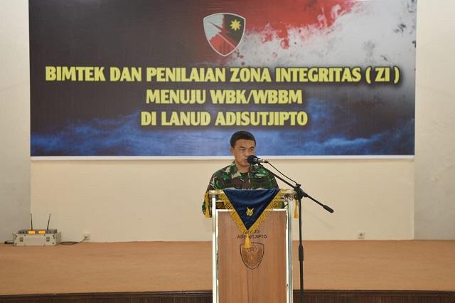Bimbingan Teknis dan Penilaian Pembangunan Zona Integritas Lanud Adisutjipto Yogyakarta