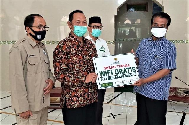 Baznas DIY Launching WIFI Gratis Pembelajaran Jarak Jauh 20 Titik Berbasis Masjid