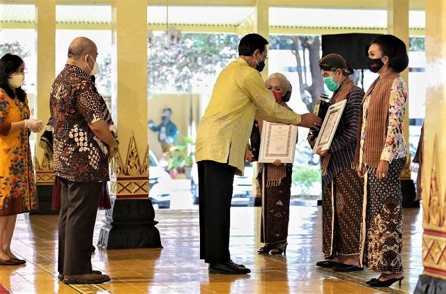 Anugerah Kebudayaan Gubernur Daerah Istimewa Yogyakarta Tahun 2020