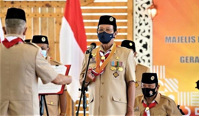 Sultan Hamengku Buwono X Kini Selaku Ketua Majelis Pembimbing Daerah Kwarda Gerakan Pramuka DIY