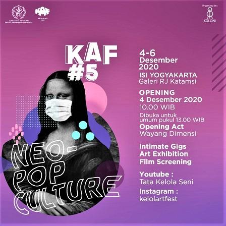 Mahasiswa Prodi Tata Kelola Seni ISI Yogyakarta Gelar Kelola Art Festival Ke-5, Pada 4-6 Desember 2020
