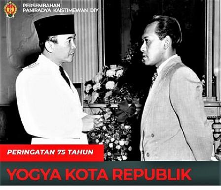 Peringatan 75 Tahun Yogya Kota Republik, Senin 4 Januari 2021, Pukul 19.00 Live Streaming di Channel Youtube, paniradyakaistimewan.