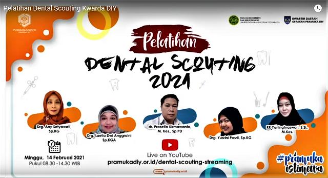 Pelatihan Dental Scouting Kerjasama Universitas Muhammadiyah Yogyakarta dan Kwarda Daerah Istimewa Yogyakarta