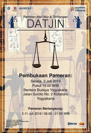 Pameran Alat Ukur dan Timbangan Datjin Di Bentara Budaya Yogyakarta, 2-11 Juli 2019
