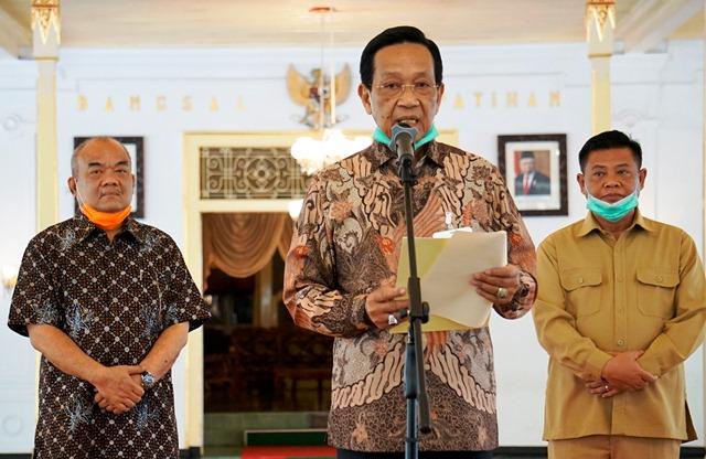 Sri Sultan Menyapa Warga Terkait Wabah Covid-19 Di Daerah Istimewa Yogyakarta Sebagai Cobaan Gusti Allah.