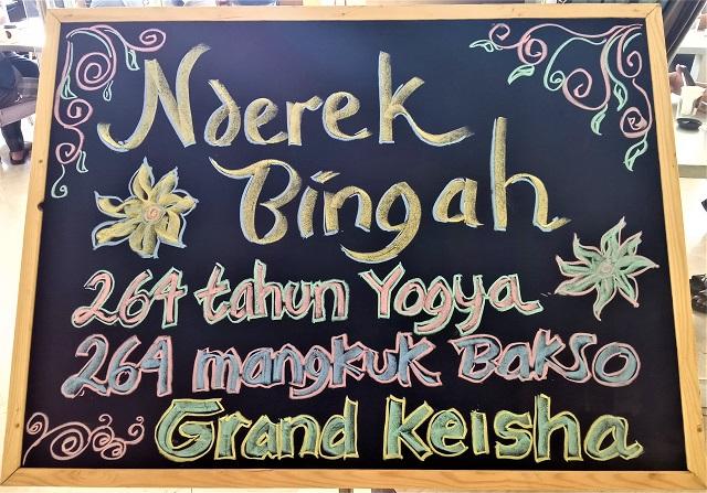 Grand Keisha Cinta Jogja Ditandai Dengan Sajian 264 Mangkok Bakso dan 264 Cup Kopi-Duren