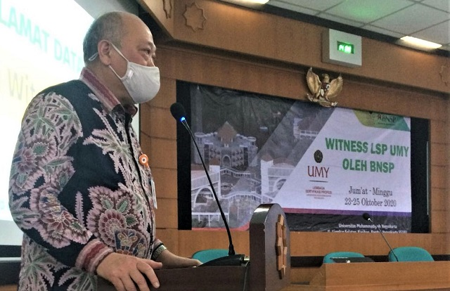 Lembaga Sertifikasi Profesi UMY Jalani Witness Badan Nasional Sertifikasi Profesi