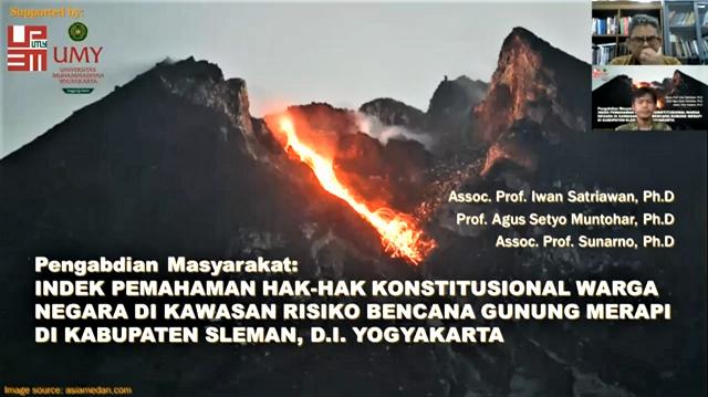 UMY Jelaskan Hak Pemahaman Konstitusional Warga di Kawasan Resiko Bencana Gunung Merapi di Kabupaten Sleman