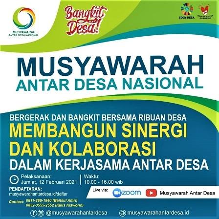 Musyawarah Antar-Desa Nasional, 12 Februari 2021 Di Desa Panggungharjo Sewon-Bantul