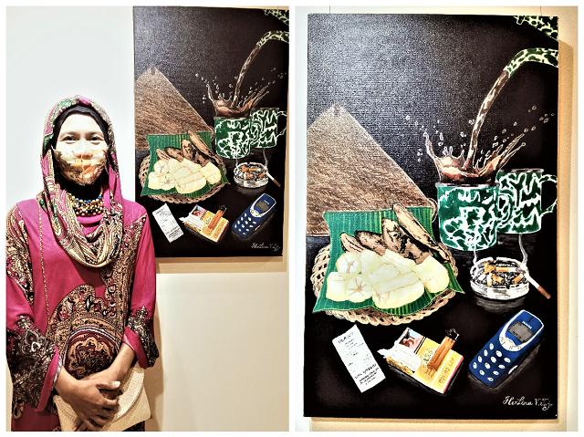 Herlina van Tojo Memamerkan lukisannya di Hyatt Regency Yogyakarta