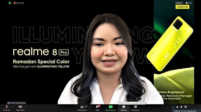 Realme 8 Pro Illuminating Yellow dan realme Watch S Master Edition untuk Inisiasi BeTheLight selama Ramadan