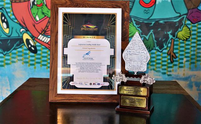 Artotel Yogyakarta Raih Penghargaan Joglosemar Leading Artistic Hotel 2021-2022