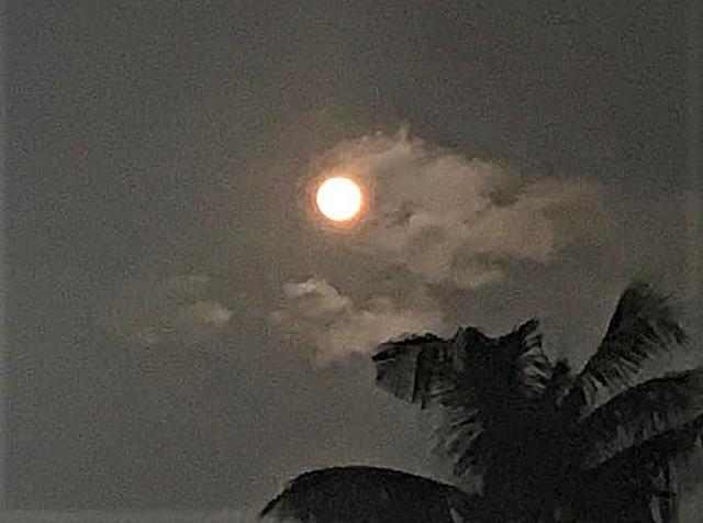 Puisi Sastra Bulan Purnama Ditemani Rembulan Nan Jernih Di Langit Biru