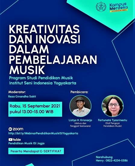Workshop Kreativitas dan Inovasi Dalam Pembelajaran Musik