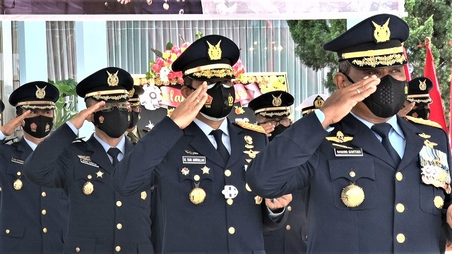 Danlanud Adisutjipto Hadiri Upacara HUT Ke-76 TNI Secara Daring