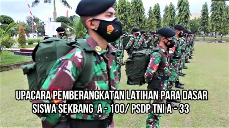 Sekbang Angkatan 100-PSDP TNI A-33 Lakukan Latihan Para Dasar
